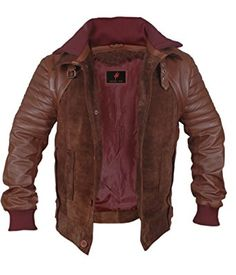 1497aa9a0ab Horns   Danial Radcliff Brown Genuine Leather Jacket Review. BlousonLeather  MenLeather JacketAmazon ...