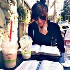 One of the many times Sarah and Christina went to their favorite coffee shop to study their bibles.