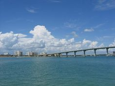 Bridge to Sand Key from Clearwater Beach Florida