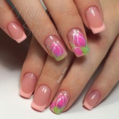 Идеи дизайна ногтей - фото,видео,уроки,маникюр! Gel Designs, Cool Nail Designs, Tulip Nails, Flower Nail Art, Nail Art Galleries, Nail Artist, Spring Nails, True Beauty, Pretty Nails