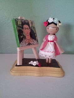 Frida Kahlo Clothespin Doll - MADE TO ORDER. via Etsy.