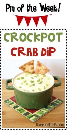 Crockpot Crab Dip Recipe! ~ from TheFrugalGirls.com ~ this Slow Cooker dip is perfect for your parties and holiday meals! It's so easy and SO good!! #slowcooker #recipes #thefrugalgirls