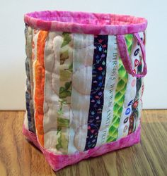 Selvage Fabric Quilted Fabric Mini Bucket