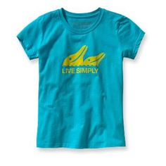 Love the colors and cool dolphin graphic of this Patagonia t-shirt for girls.