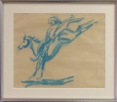 Original Pastel Drawing on Paper, Attributed Edward Borein (1872-1945). Available for purchase at http://treasuredestates.com/showroom/product/148-pastel-drawing-on-paper-attributed-edward-borein