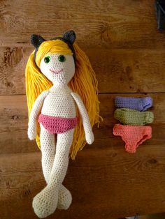 Sassy Doll and accessories By AnnooCrochet Designs