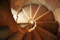 "Spiral Staircase Ascending - Gaudi - Sagrada Familia Cathedral, Barcelona, Spain - Framed Photo Art Print, 11""x 14"" by Romagosa Fine Arts, http://www.amazon.com/dp/B00GOGFWY8/ref=cm_sw_r_pi_dp_e0yHsb150B0F7"