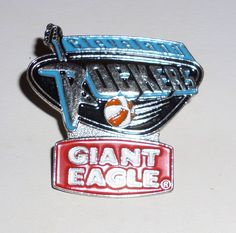 Cleveland Rockers Basketball Giant Eagle WNBA Pin