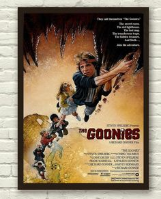 The Goonies Movie Film Print Poster Picture A3 A4 Retro Vintage