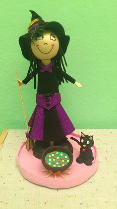 fofucha bruja con gato