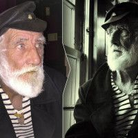 How to take Artistic Portraits in Low Light Using an iPhone. Picture of an old sailor, with flash and without flash. Same iPhone 6. Artistic dramatic iPhoneography pro techniques.