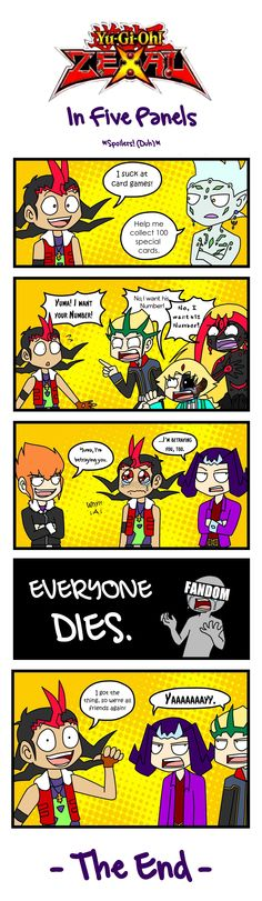 Yugioh Zexal in Five Panels by ProbablyImpossible on DeviantArt