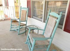 giving new life to old rocking chairs before and after , chalk paint, outdoor furniture, painted furniture