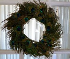 Make it easy crafts: Easy Peacock feather wreath