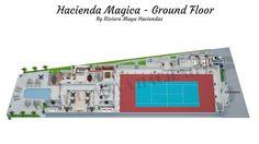 Riviera Maya Haciendas, Hacienda Magica - Ground Floor Plan 3D.