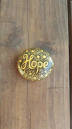 Hope hand painted rocks painted stone rock art mandala