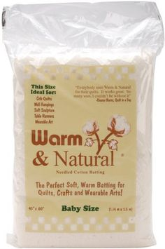 "Warm & Natural Cotton Batting-Crib Size 45""X60"" by Warm Company Batting, http://www.amazon.com/dp/B000YQKDE8/ref=cm_sw_r_pi_dp_u6GTrb1TGWWX7"