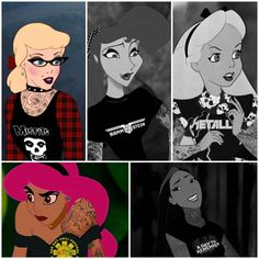 40 Disney Characters With Tattoos And Piercings!