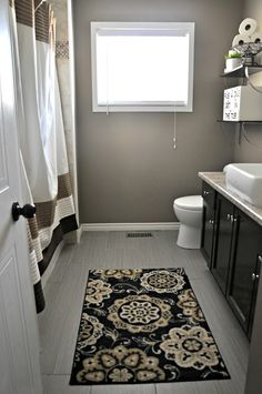 Bathroom Idea. I like these colors, but I might go a bit brighter. Traditional bathroom layout to consider...