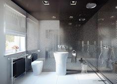 Bathroom - Łazienka; interior designer,architect Marcin Śliwiński Poland;  Source: https://www.facebook.com/architectmarcinsliwinski?fref=ts