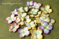Klaudia/Kszp: Kurs na hortensje DIY HYDRENGEA FLOWERS TUTORIALS 1 AND 2!!