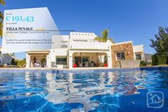 VILLA OF THE WEEK !!! VILLA TUVALU  Located in a quiet residential area of Moraira just 700 meters from the unique cove El Portet, Moraira.