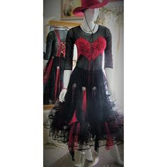 Size 4 12. Black red grey valentine steampunk gypsy romany gothic... ❤ liked on Polyvore featuring dresses, long-sleeve midi dresses, sexy long dresses, red midi dress, long-sleeve maxi dress and sexy long sleeve dresses