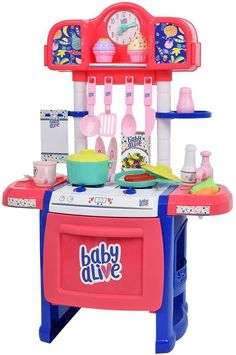 Designed to inspire your little chef, the Hauk Baby Alive Doll Kitchen Set is filled with with fun kitchen accessories. Baby Alive Doll Clothes, Baby Alive Dolls, Baby Doll Nursery, Baby Girl Dolls, Toddler Girl Gifts, Toddler Toys, Toddler Christmas Gifts, Kids Christmas, Cute Little Baby
