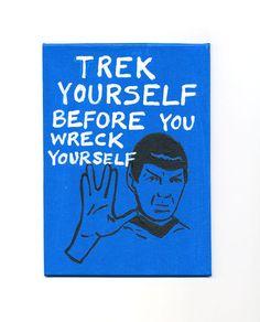 Star Trek Print Spock Trek Yourself by LennyMud on Etsy, $12.00