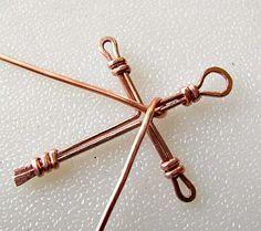 Wire Wrapped Cross Tutorial   Art-Z Jewelry Wire Jewelry Making, Wire Wrapped Jewelry, Diy Jewelry, Jewlery, Jewellery Making, Fashion Jewelry, Wire Jewellery, Jewellery Designs, Handmade Jewelry