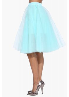 Black Swan Skirt in Mint   Necessary Clothing