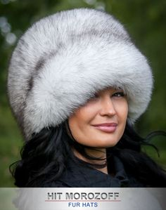 BLAUFUCHS Pelzmütze Wintermütze Schapka Damen Fox Fur Hat Fellmütze Pelz Mütze in Kleidung & Accessoires, Damen-Accessoires, Hüte & Mützen   eBay