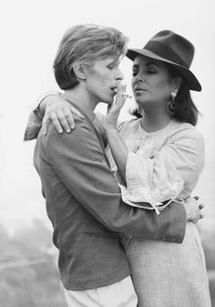 David Bowie and Elizabeth Taylor, 1975. Photo: Terry ONeill