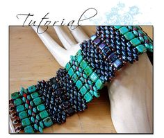 TUTORIAL Super Duo Blanket Bracelet by tattooedraven on Etsy