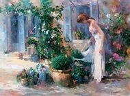 Willem  Haenraets - Women in garden III