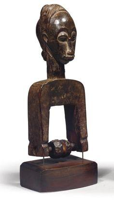 POULIE BAOULE Art Africain, Ivoire, Buddha, Lion Sculpture, Statue, Sculptures, Sculpture