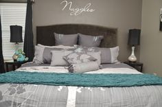 black gray teal bedrooms | Teal & grey & black | Bedroom ...