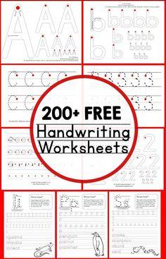 200+ FREE Printable Handwriting Worksheets - Homeschool Giveaways