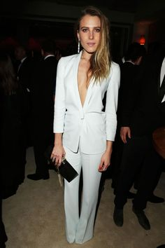 Oscars Afterparty Dree Hemingway in Calvin Klein Collection Read more: Oscars Parties 2013 - Red Carpet Photos from Oscar 2013 Parties - Harper's BAZAAR Dree Hemingway, Mariel Hemingway, Yves Saint Laurent, Calvin Klein Collection, Neutral Outfit, White Outfits, Dress Me Up, Suits For Women, Her Style