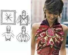 donneinpink magazine: Riutilizzare i foulards per creare top, borse e accessori senza cucire