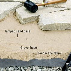 How to install edging. Find tips and information on staking curved edging, timber, concrete curbs, plastic edge restraints, flagstone, brick, and more. From DIY Advice.