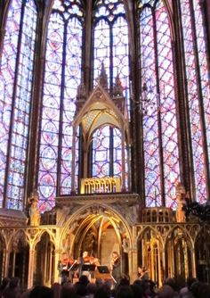 A most incredible way to soak up the ambience of Sainte Chapelle's beauty -- attending a concert and listening to classics such as Vivaldi's Four Seasons as summer evening light beautifully lit up those famous stained glass windows.  A favorite Paris memory.