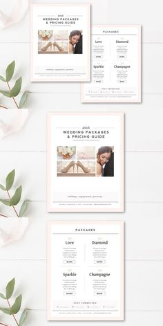 Wedding Photography Price List Template Marketing  Advertising
