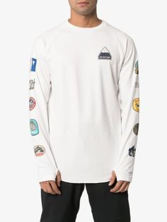 Shop Burton white Roadie Base Layer Tech badge print T-shirt from our T-Shirts collection. Spandex, Badge, Layers, Snowboards, Fashion Outfits, Sweatshirts, Brown, Sweaters, T Shirt