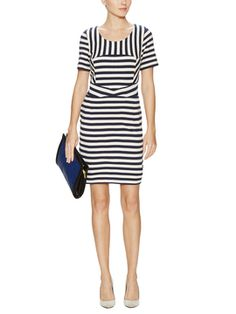 Yuni Striped A-Line Dress from Dress Shop: Daytime Chic Dresses on Gilt