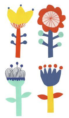 herbertgreen:  Folk flowers.