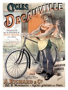 Affiches anciennes velos