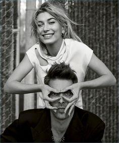 Jon Kortajarena Joins Hailey Baldwin for Harper's Bazaar España Cover Shoot