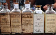 CLICK DOWNLOAD FOR FULL SIZED IMAGE! These bottles would make a great reference image for people (like me) who are trying to re-make that old apothecary look. I Googled them so you don't have to! P...