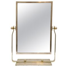 French Deco Brass Table Top Mirror | From a unique collection of antique and modern table mirrors at http://www.1stdibs.com/furniture/mirrors/table-mirrors/